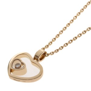 Chopard Chopard Happy Heart 1P Moving Diamond Necklace in 18k Pink Gold Ladies