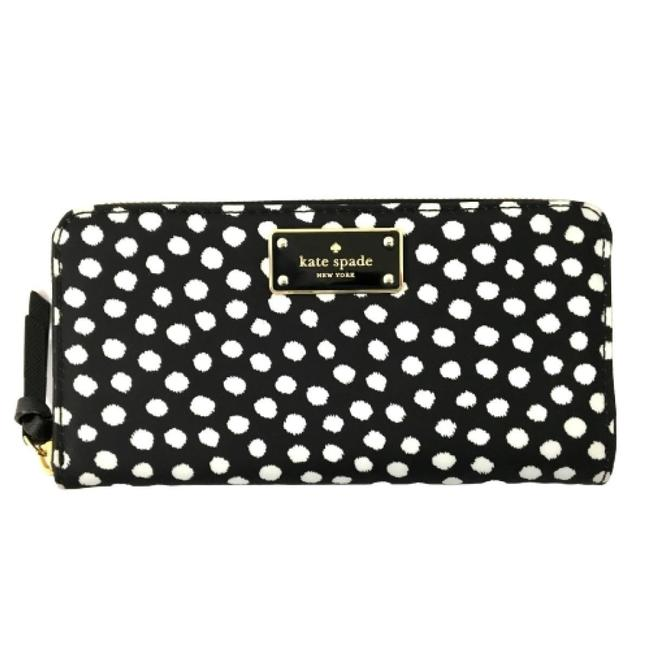 Kate Spade Black / White Women's Dot Nylon Wallet Kate Spade Black / White Women's Dot Nylon Wallet Image 1