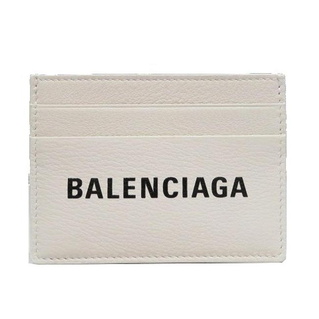 Item - White Everyday Card Case Leather 490620 Wallet