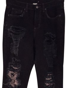 Car Mar Boyfriend Cut Jeans-Distressed