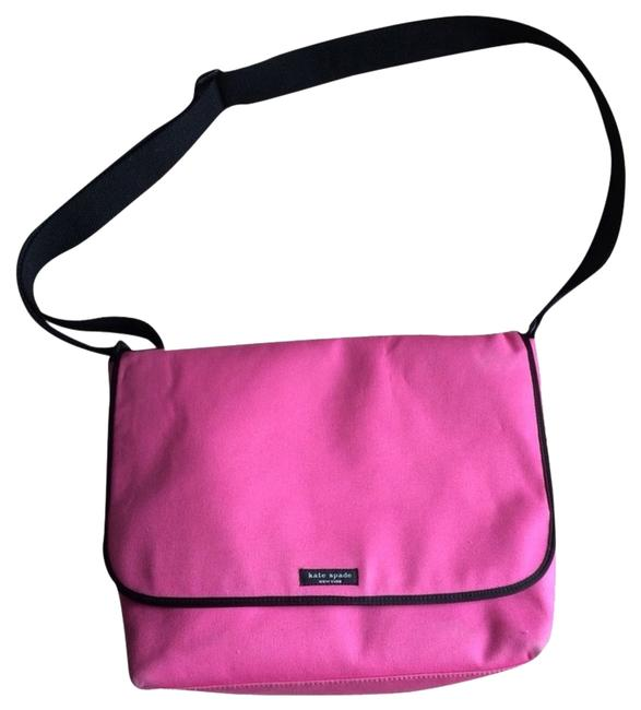 Item - Pink Canvas Messenger Bag