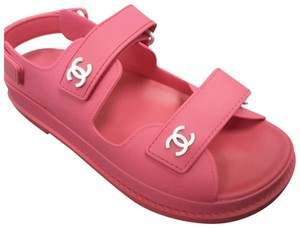 Chanel Tpu Beach 2020 Pink Fuchsia Sandals
