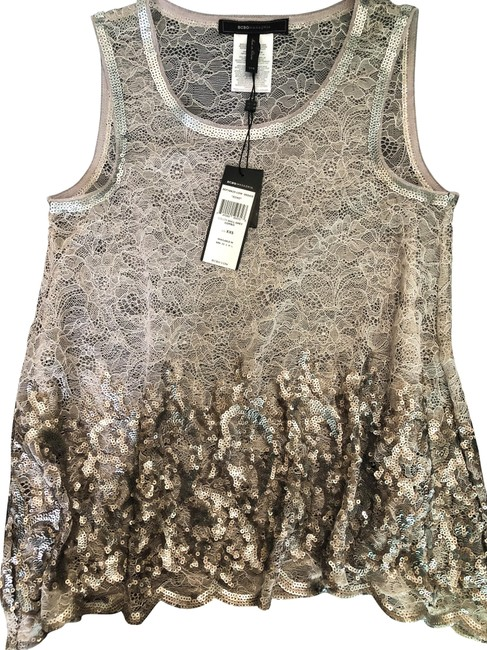 Item - Grey Echo Sequined Lace Tank Top/Cami Size 00 (XXS)