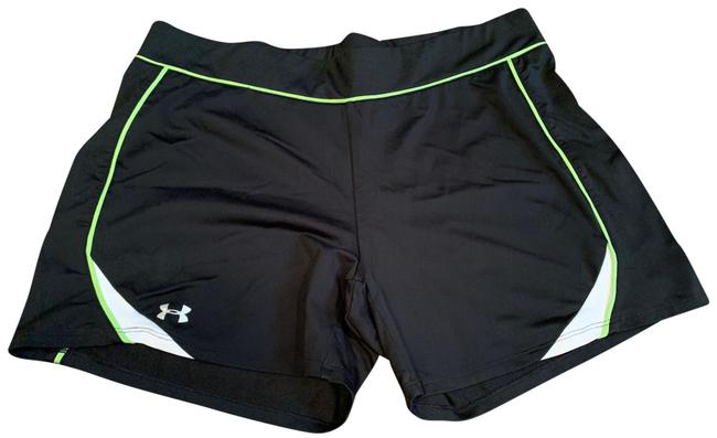 Under Armour Black Heat Gear Spandex Activewear Bottoms Size 12 (L) Under Armour Black Heat Gear Spandex Activewear Bottoms Size 12 (L) Image 1