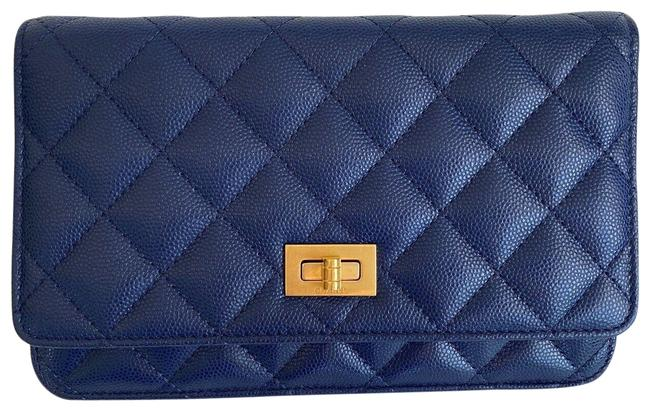 Item - on Chain Caviar Small Woc Wallet Brass Ghw 2. Blue Leather Cross Body Bag