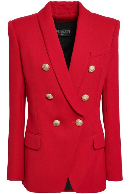 Item - Red 6-button Classic Gold Buttons Tags 34 0 2 Blazer Size 4 (S)