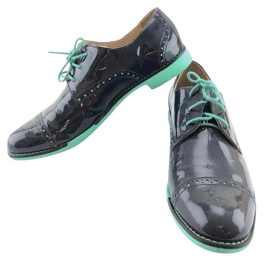 Cole Haan Blue Patent Leather Oxfords
