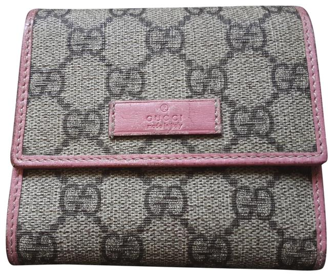 Beige/Pink French-flap Wallet Beige/Pink French-flap Wallet Image 1