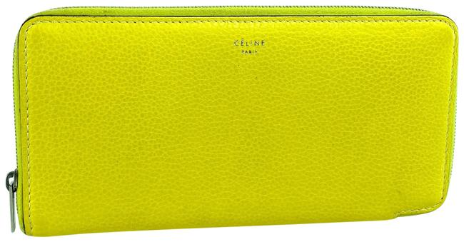 Céline Yellow Leather Large Zipped Multifunction 14cel618 Wallet Céline Yellow Leather Large Zipped Multifunction 14cel618 Wallet Image 1
