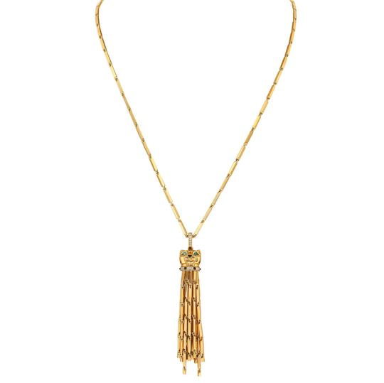 Preload https://img-static.tradesy.com/item/27510706/cartier-yellow-gold-panthere-sautoir-tassel-lacquer-spotted-necklace-0-2-540-540.jpg