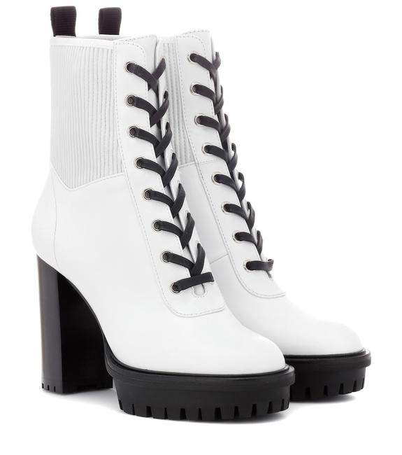 Gianvito Rossi White Martis Lace-up Leather Ankle Boots/Booties Size EU 38.5 (Approx. US 8.5) Regular (M, B) Gianvito Rossi White Martis Lace-up Leather Ankle Boots/Booties Size EU 38.5 (Approx. US 8.5) Regular (M, B) Image 1