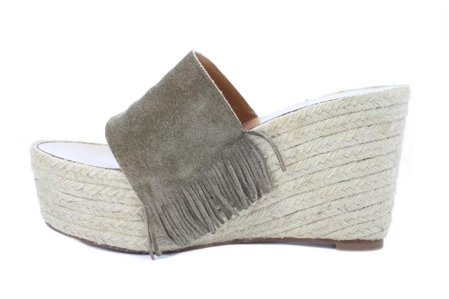 Chloé Taupe Suede Espadrille Sandals with Fringe Wedges Size US 10 Regular (M, B) Chloé Taupe Suede Espadrille Sandals with Fringe Wedges Size US 10 Regular (M, B) Image 1