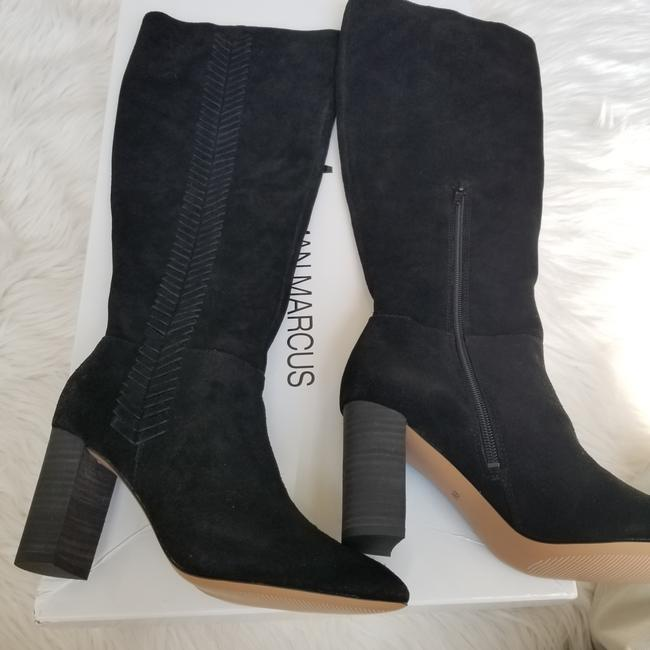 Neiman Marcus Black Brentwood Suede Knee with Topstitch Trim Boots/Booties Size US 6 Regular (M, B) Neiman Marcus Black Brentwood Suede Knee with Topstitch Trim Boots/Booties Size US 6 Regular (M, B) Image 1