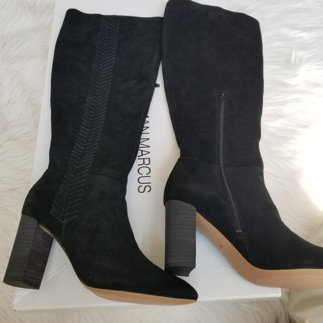 Neiman Marcus Black Brentwood Suede Knee with Topstitch Trim Boots/Booties Size US 6 Regular (M, B) Neiman Marcus Black Brentwood Suede Knee with Topstitch Trim Boots/Booties Size US 6 Regular (M, B) Image 6