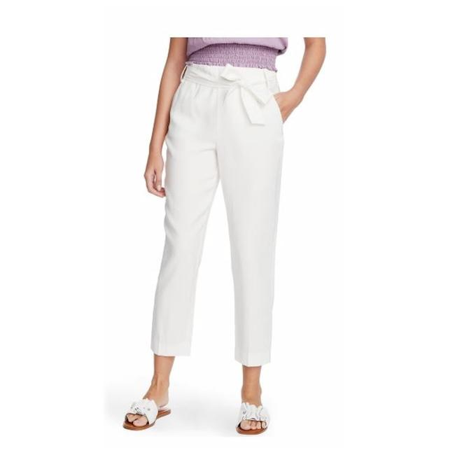 Preload https://img-static.tradesy.com/item/27510782/1state-soft-ecru-white-tie-waist-tapered-lined-trousers-pants-size-10-m-31-0-0-650-650.jpg
