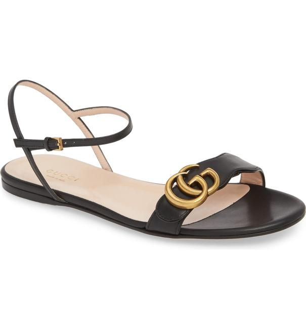 Gucci Black Marmont New Gg Logo Sandals Size EU 36 (Approx. US 6) Regular (M, B) Gucci Black Marmont New Gg Logo Sandals Size EU 36 (Approx. US 6) Regular (M, B) Image 1