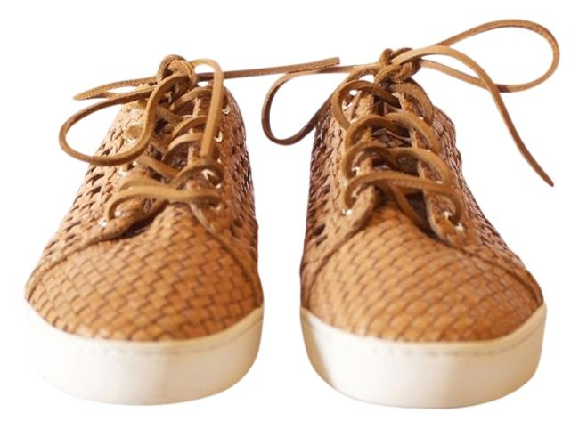 Item - Tan Violet Woven Leather Sneakers Size US 8.5 Regular (M, B)