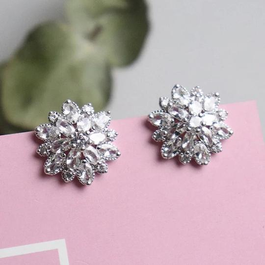 Preload https://img-static.tradesy.com/item/27510881/silver-plated-bling-zircon-stone-flower-color-stud-for-women-fashion-earrings-0-0-540-540.jpg