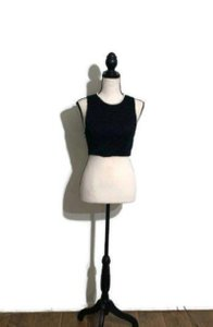 Dainty Hooligan Crop Top Black