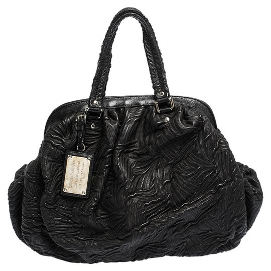 Preload https://img-static.tradesy.com/item/27510931/dolce-and-gabbana-dolce-and-gabbana-miss-curly-black-leather-satchel-0-0-540-540.jpg