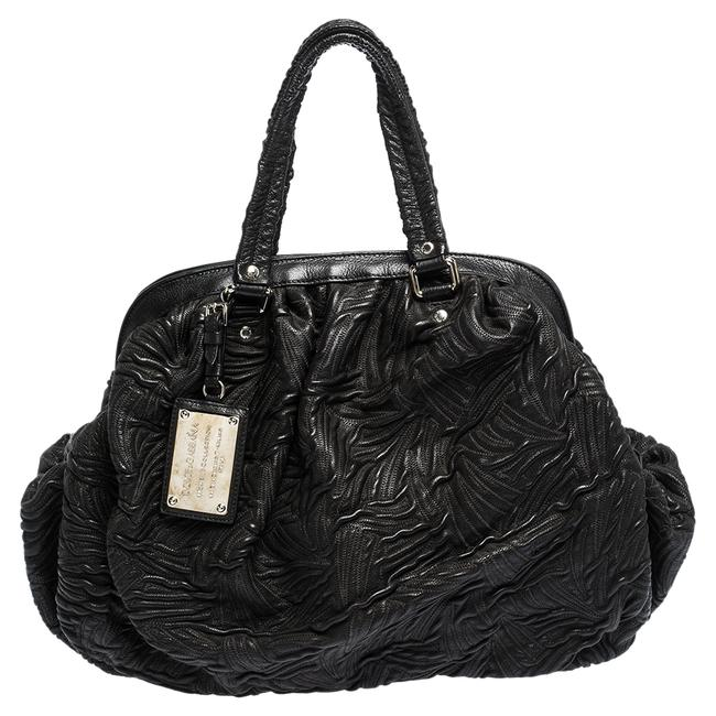 Dolce&Gabbana Dolce & Gabbana Miss Curly Black Leather Satchel Dolce&Gabbana Dolce & Gabbana Miss Curly Black Leather Satchel Image 1