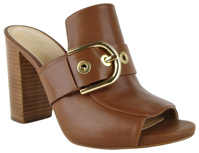 Michael Kors Brown Cooper Leather Slip-on Open Toe Heels 4os7cphp1l Mules/Slides Size US 10 Regular (M, B) Michael Kors Brown Cooper Leather Slip-on Open Toe Heels 4os7cphp1l Mules/Slides Size US 10 Regular (M, B) Image 1
