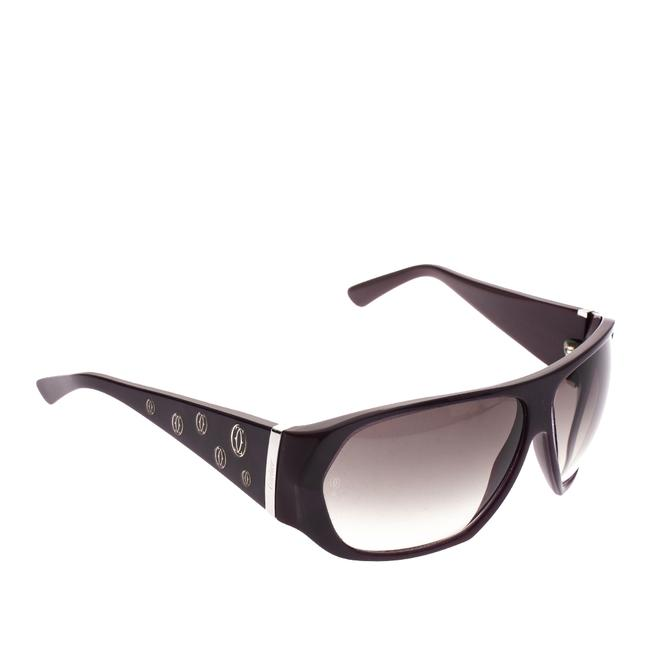 Cartier Purple Purple/Black Gradient Oversized Sunglasses Cartier Purple Purple/Black Gradient Oversized Sunglasses Image 1