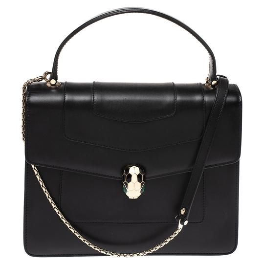 Preload https://img-static.tradesy.com/item/27511099/bvlgari-flap-bag-serpenti-forever-black-leather-clutch-0-0-540-540.jpg