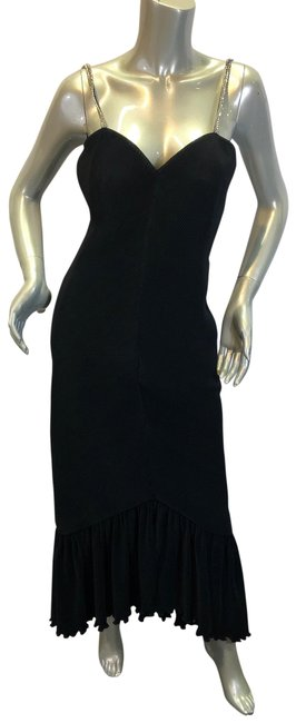 Preload https://img-static.tradesy.com/item/27511107/rose-taft-black-for-couture-fashions-vintage-1980-s-evening-dressgown-long-cocktail-dress-size-10-m-0-2-650-650.jpg