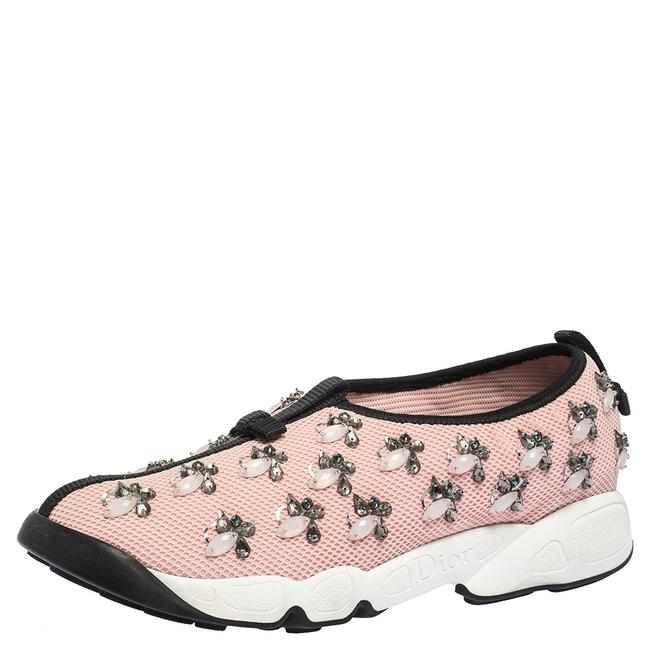 Dior Pink Mesh Fusion Embellished 39 Sneakers Size US 8.5 Regular (M, B) Dior Pink Mesh Fusion Embellished 39 Sneakers Size US 8.5 Regular (M, B) Image 1