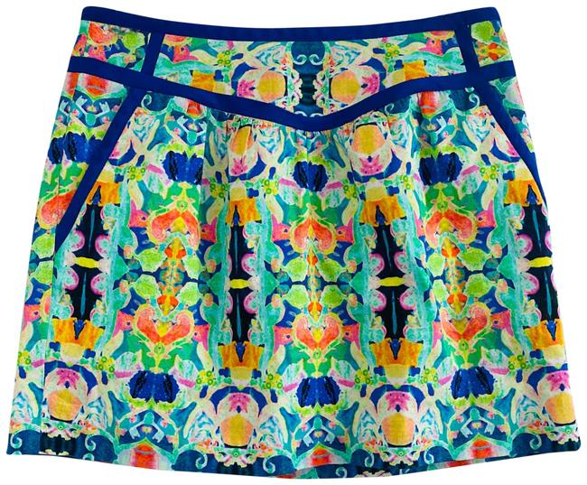 Preload https://img-static.tradesy.com/item/27511143/milly-of-new-york-blue-green-orange-pink-floral-skirt-size-2-xs-26-0-1-650-650.jpg