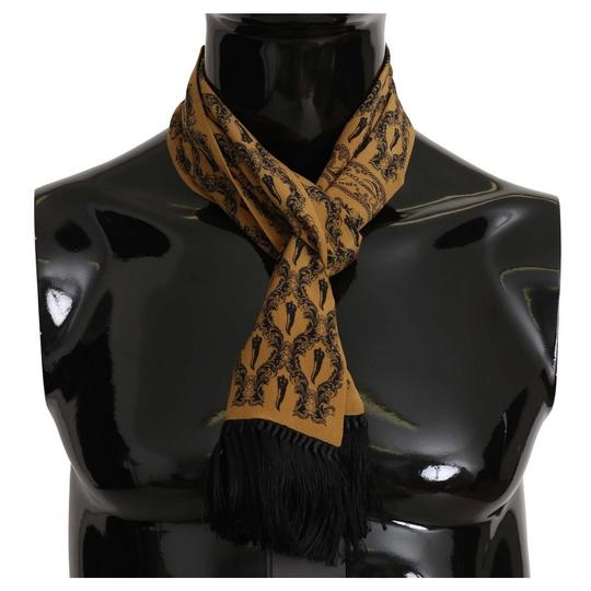 Preload https://img-static.tradesy.com/item/27511148/dolce-and-gabbana-yellow-d5130-printed-tassel-silk-wrap-scarf-groomsman-gift-0-0-540-540.jpg