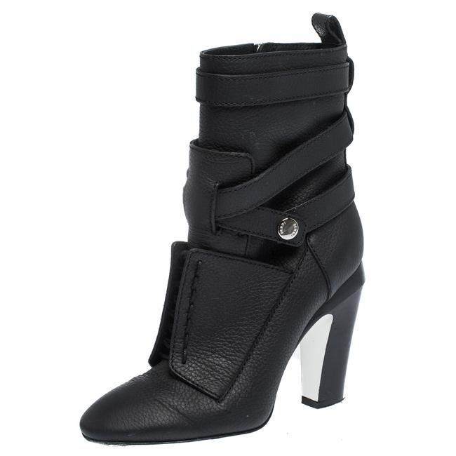 Fendi Black Leather Lace Up Detail Cross Strap Heel Ankle Size39 Boots/Booties Size US 8.5 Regular (M, B) Fendi Black Leather Lace Up Detail Cross Strap Heel Ankle Size39 Boots/Booties Size US 8.5 Regular (M, B) Image 1