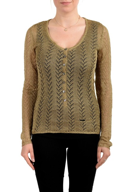Preload https://img-static.tradesy.com/item/27511196/dolce-and-gabbana-d-and-g-women-s-see-through-button-bronze-sweater-0-0-650-650.jpg