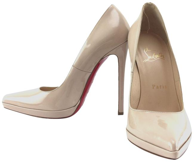Christian Louboutin Beige Patent Leather Pumps Size US 6 Regular (M, B) Christian Louboutin Beige Patent Leather Pumps Size US 6 Regular (M, B) Image 1