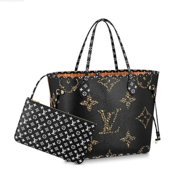 Louis Vuitton Neverfull Jungle Mm Limited Edition Shoulder Black & Caramel Coated Canvas Tote Louis Vuitton Neverfull Jungle Mm Limited Edition Shoulder Black & Caramel Coated Canvas Tote Image 1