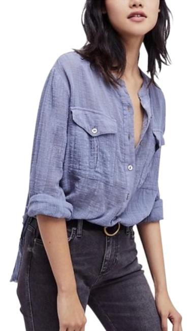 Preload https://img-static.tradesy.com/item/27511268/free-people-blue-talk-to-me-lightweight-gauzy-button-down-blouse-size-4-s-0-1-650-650.jpg