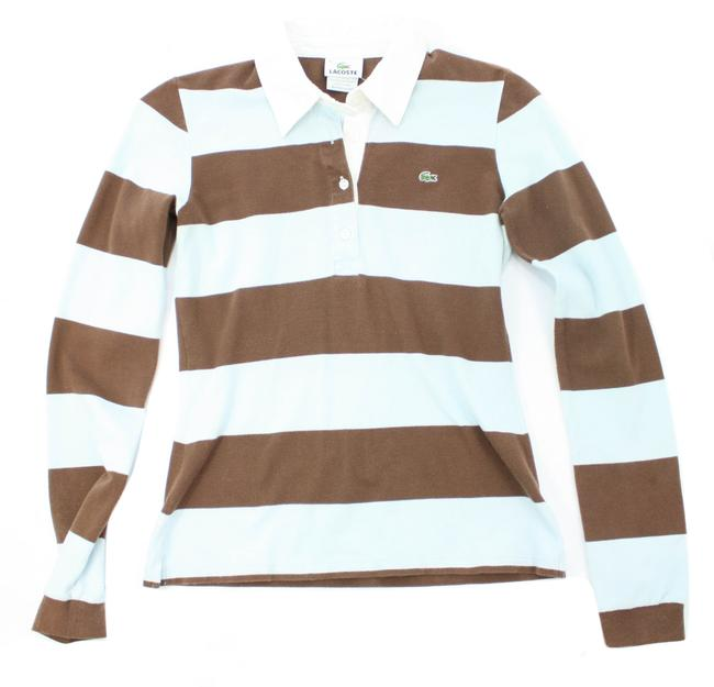 Preload https://img-static.tradesy.com/item/27511289/lacoste-blue-and-brown-light-striped-long-sleeved-polo-shirt-sweatshirthoodie-size-4-s-0-0-650-650.jpg