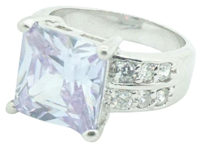Women's 925 Sterling Silver Purple & White Cz Cocktail #21587 Ring Women's 925 Sterling Silver Purple & White Cz Cocktail #21587 Ring Image 1