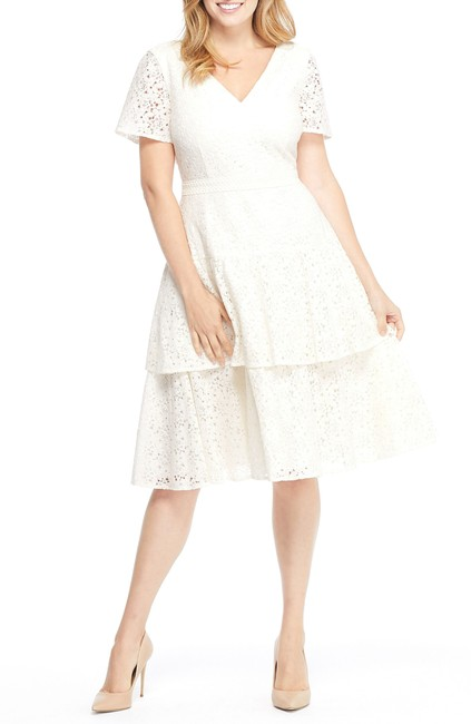 Preload https://img-static.tradesy.com/item/27511319/ivory-doris-bow-lace-tiered-skirt-lace-short-cocktail-dress-size-4-s-0-0-650-650.jpg