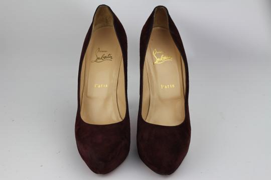 Christian Louboutin Maroon Suede Platforms