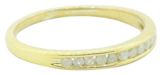 Sterling Silver 925 Gold Plated Diamond Women's #21845 Ring Sterling Silver 925 Gold Plated Diamond Women's #21845 Ring Image 1