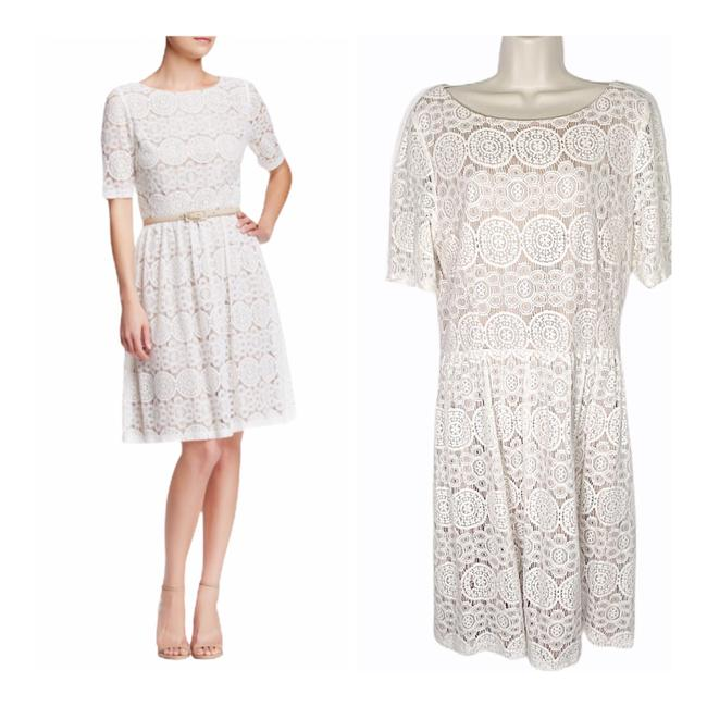Preload https://img-static.tradesy.com/item/27511352/eliza-j-white-lace-fit-and-flare-mid-length-cocktail-dress-size-16-xl-plus-0x-0-0-650-650.jpg