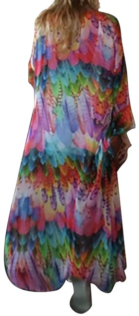 Preload https://img-static.tradesy.com/item/27511366/multicolor-peacock-colors-kimono-or-beachwear-cover-upsarong-size-os-one-size-0-1-650-650.jpg