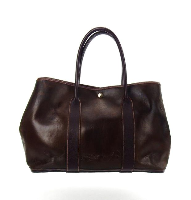 Hermès Garden Party Vintage Shoulder Brown Amazonia Leather Weekend/Travel Bag Hermès Garden Party Vintage Shoulder Brown Amazonia Leather Weekend/Travel Bag Image 1