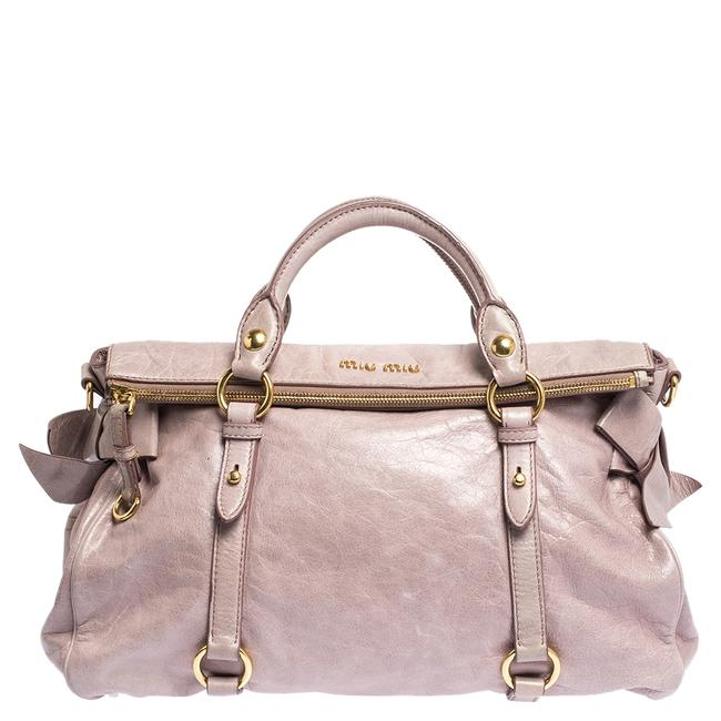 Miu Miu Pale Vitello Pink Leather Satchel Miu Miu Pale Vitello Pink Leather Satchel Image 1