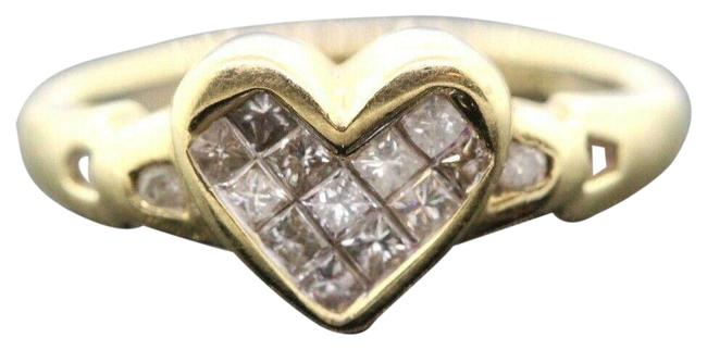 Women's 14k Yellow Gold Diamond Heart 0.15 Tcw - 2.7g. - Sizable #30124 Ring Women's 14k Yellow Gold Diamond Heart 0.15 Tcw - 2.7g. - Sizable #30124 Ring Image 1