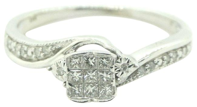 Women's 14k White Gold with Diamonds Engagement Wedding Band #22230 Ring Women's 14k White Gold with Diamonds Engagement Wedding Band #22230 Ring Image 1