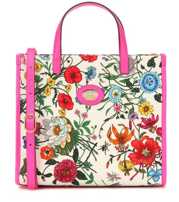 Item - Bag Flora Neon Pink Canvas Tote