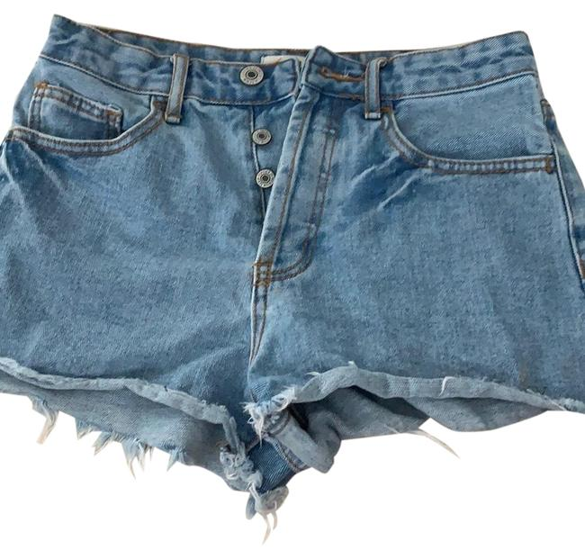 Preload https://img-static.tradesy.com/item/27511555/forever-21-light-blue-high-wasted-jean-shorts-size-2-xs-26-0-1-650-650.jpg
